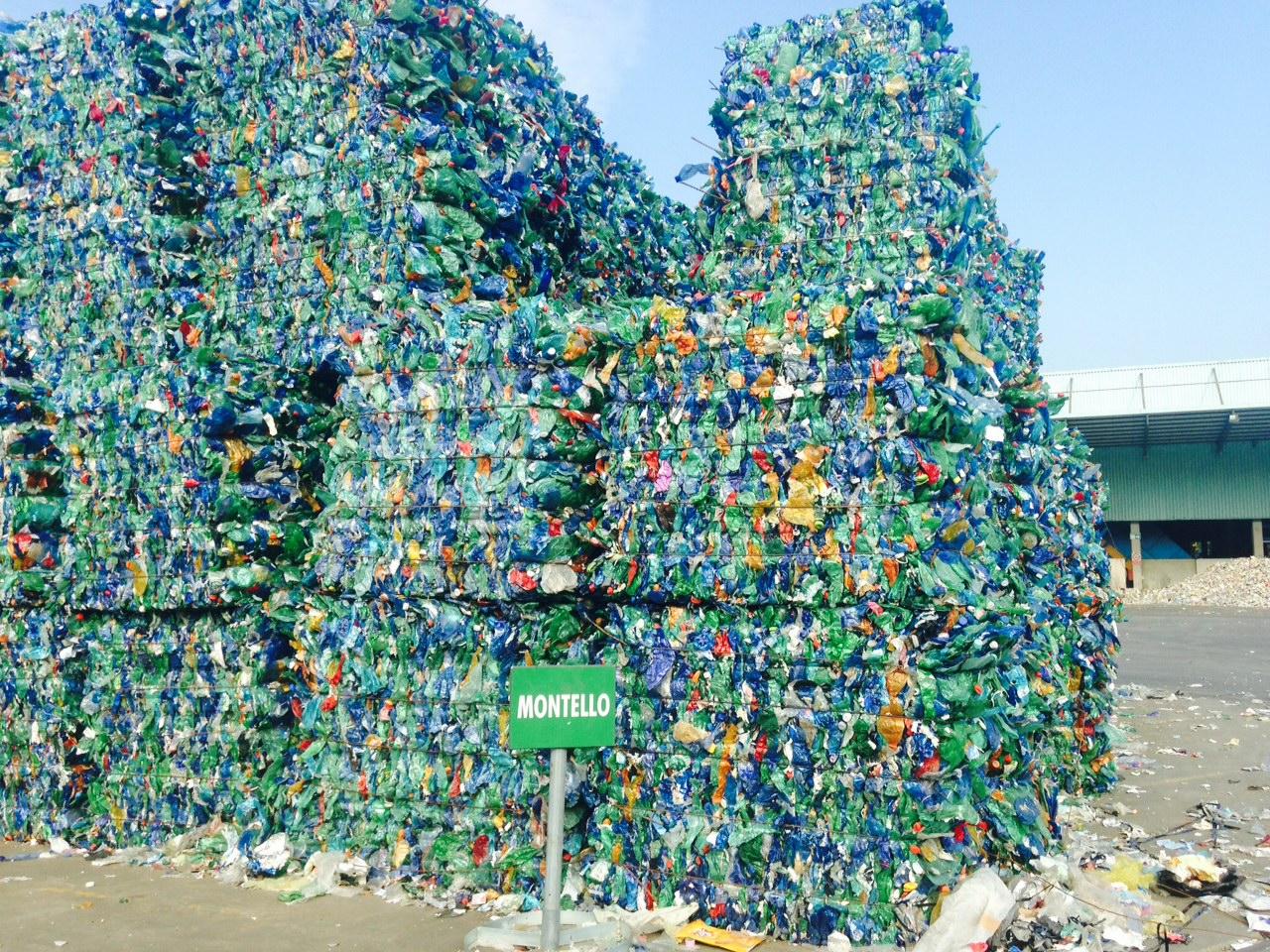 riciclo della plastica in italia