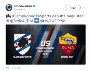 """Playstation, Volete investire su Samp-Roma di sabato? State attenti allo """"spoiler""""…"""