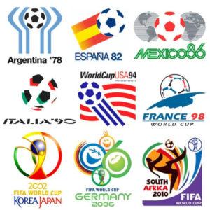 loghi mondiali, Le mascotte dei Mondiali