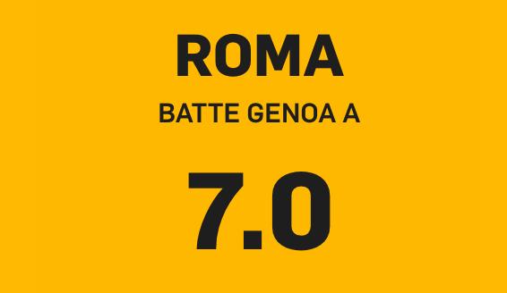 roma, Come vincere 35€ con Roma-Genoa