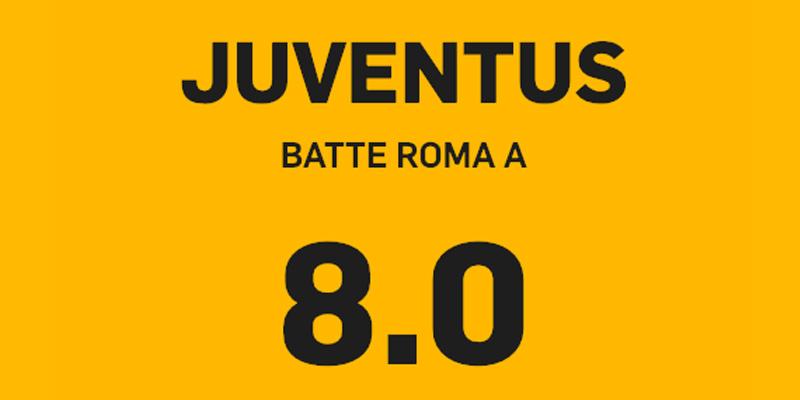 juventus roma, Juventus – Roma a quota 8