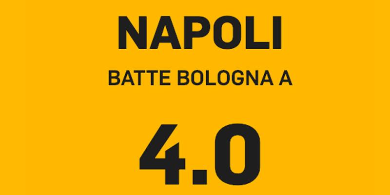 napoli bologna, Napoli – Bologna a quota 4