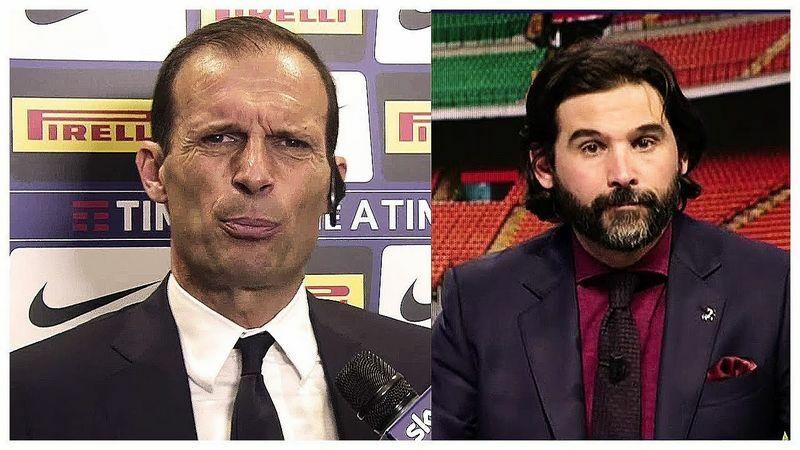 """allegri adani, Allegri e Adani non se le mandano a dire. """"Stai zitto che non sai ninete di calcio!"""""""