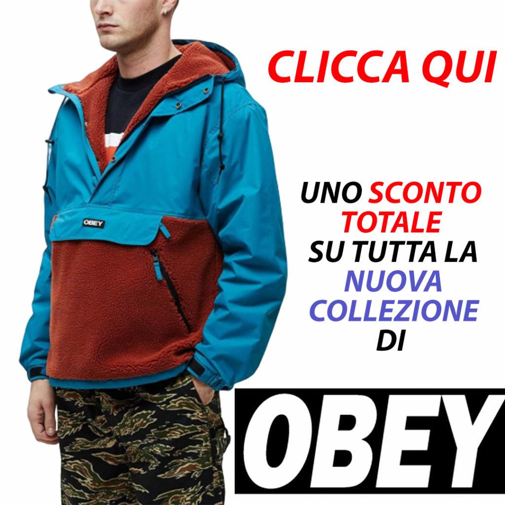 giubbotto, Giubbotto: Splits Sherpa Anorak Obey Pure Teal! Super Offerta!