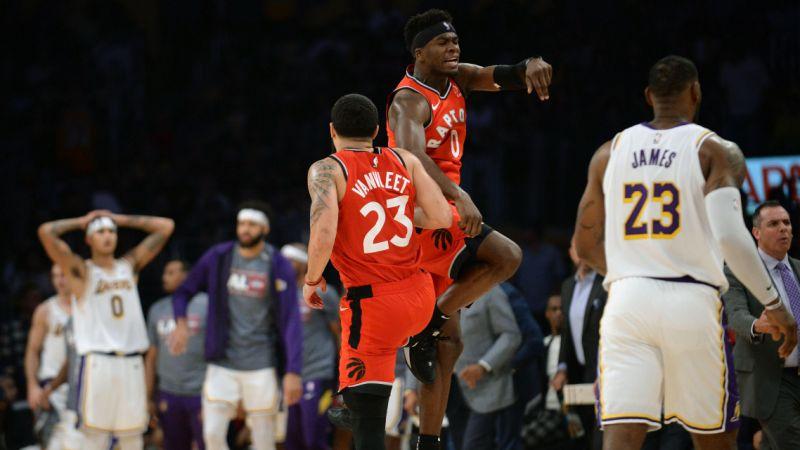 highlights, Gli highlights di Lakers Toronto
