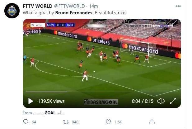 , Ma che gol ha fatto Bruno Fernandes!