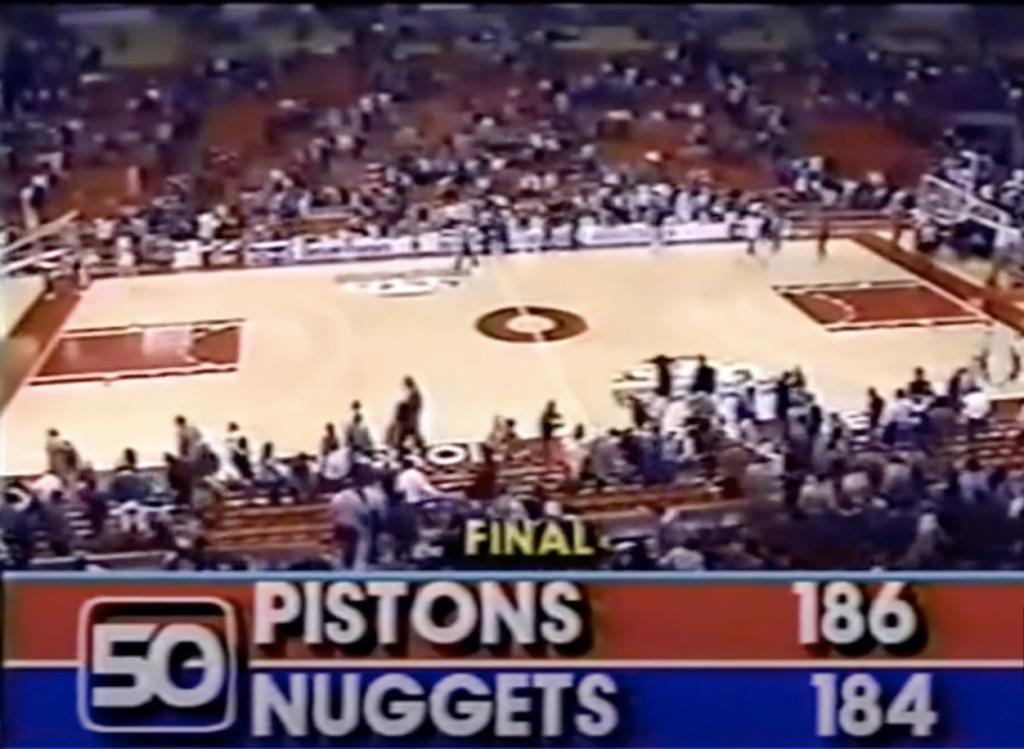 , La partita NBA con il punteggio più alto della storia