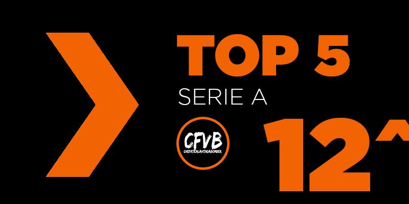 , TOP 5 Serie A – 12° Giornata