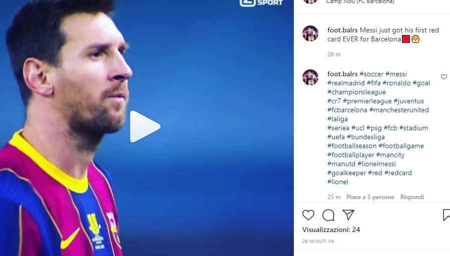 messi, Il Barcellona perde la Supercoppa e Messi perde la testa.