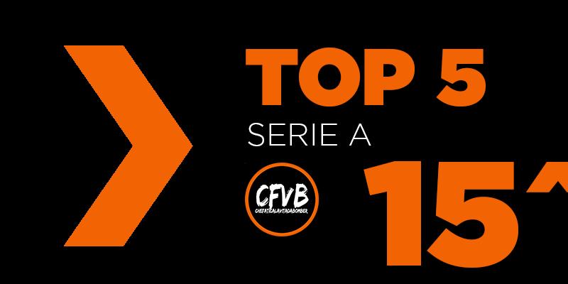 , TOP 5 Serie A – 15° Giornata