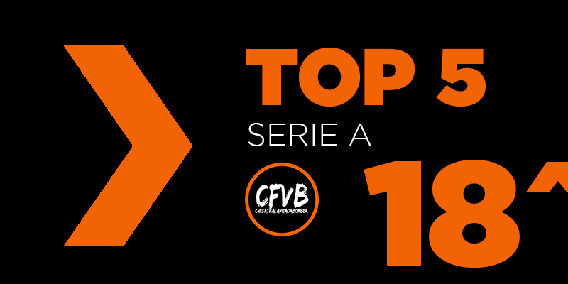 , TOP 5 Serie A – 18° Giornata