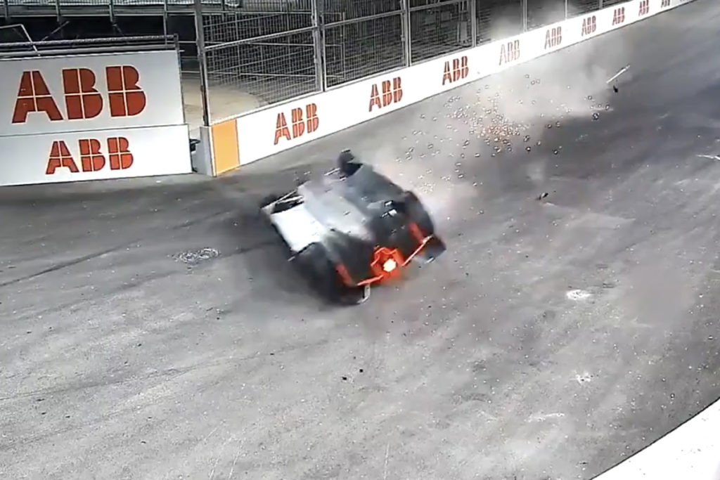 , Formula E, il tremendo incidente di Lynn