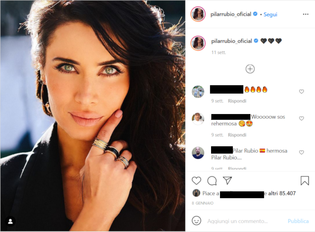pilar rubio, Pilar Rubio gli occhi che hanno stregato Sergio Ramos