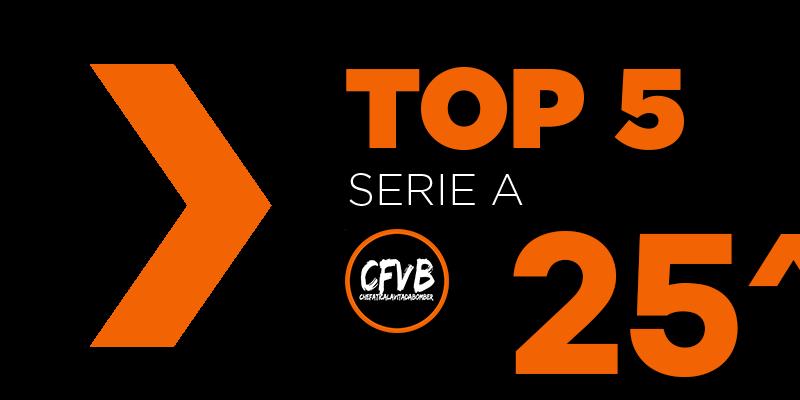 , TOP 5 Serie A – 25° Giornata