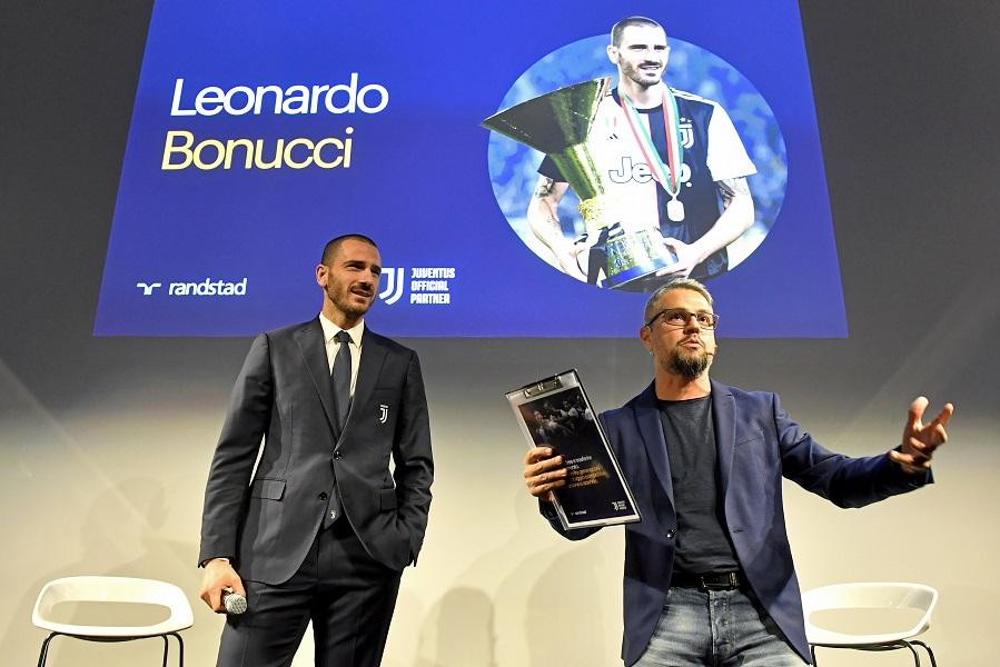 Leonardo Bonucci e Rudy Bandiera (Photo by Filippo Alfero/Getty Images for Randstad)
