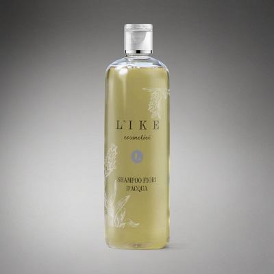 Shampoo bio per capelli secchi L'IKE – Shampoo uso frequente Fiori d'Acqua (250 ml)