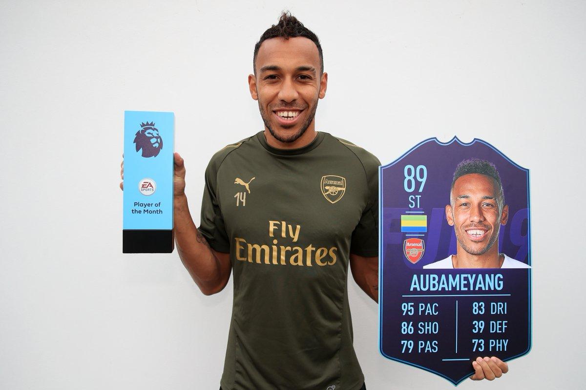 Aubameyang Player of the Month di ottobre di Premier League
