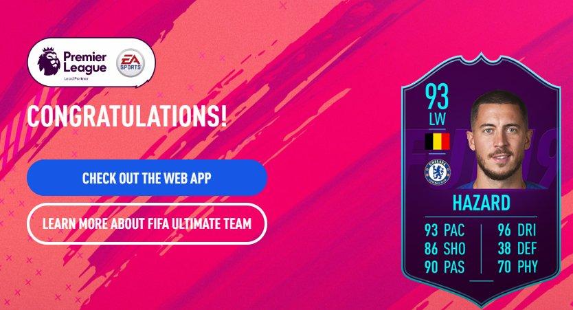 Eden Hazard Player of the Month di Settembre della Premier League