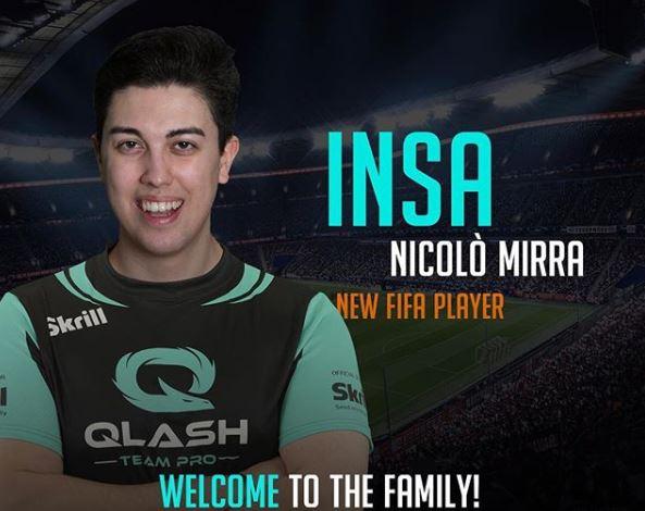 NICOLO' MIRRA NUOVO PLAYER DEL TEAM QLASH!