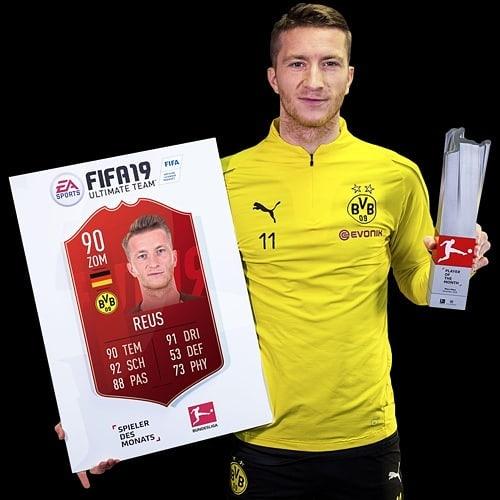 Reus Player Of The Month di novembre di Bundesliga