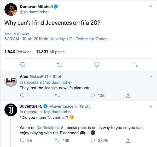 Mitchell non trova la Juve