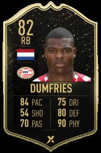 Prediction card TOTW 4: Denzel Dumfries