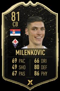Prediction card TOTW 4: Nikola Milenkovic