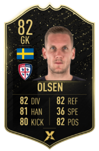 Prediction card TOTW 4: Robin Olsen