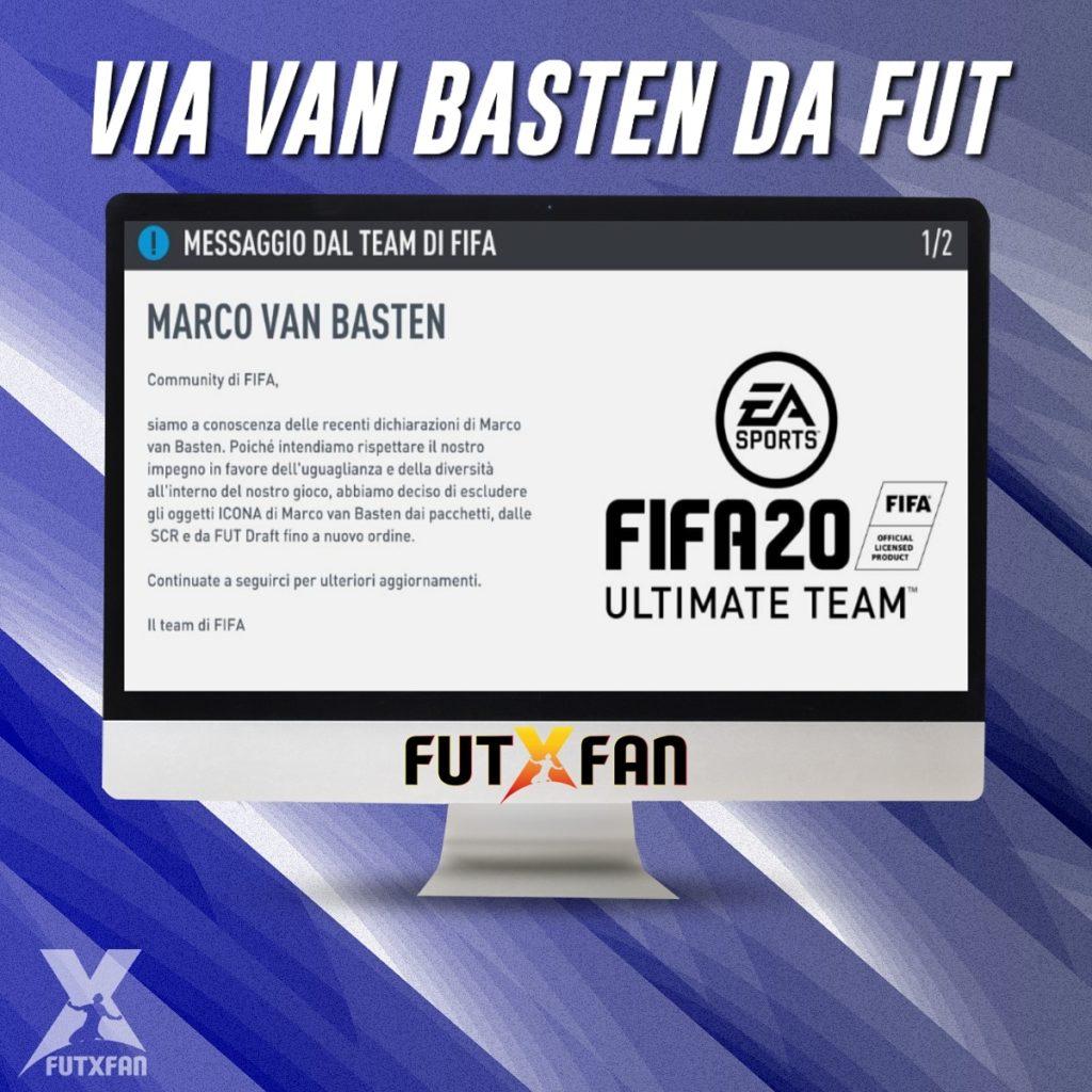 Marco Van Basten escluso da FIFA 20 è la notizia che ha lasciato di stucco tutti gli amanti del videogioco targato EA Sports.
