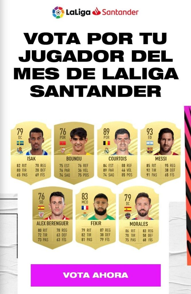 Candidati POTM LaLiga Santander