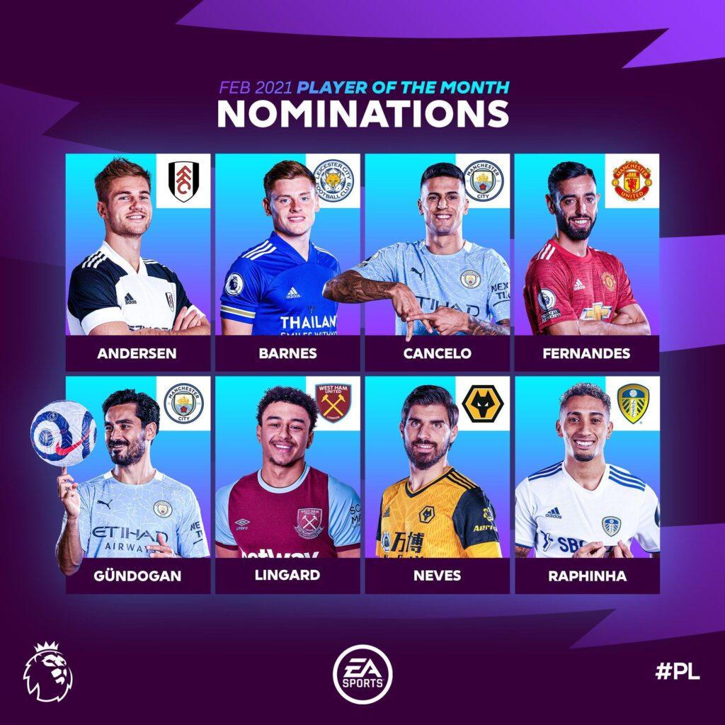 Candidati POTM Premier League di Febbraio