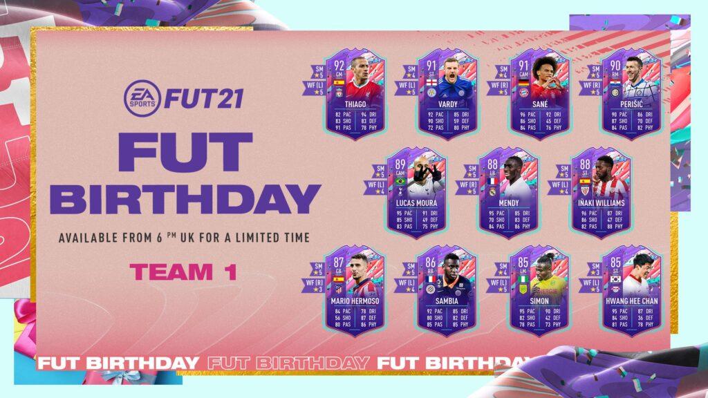 Primo Gruppo di Carte FUT Birthday