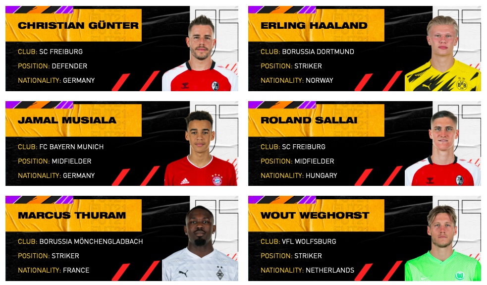 Candidati POTM Bundesliga di Aprile