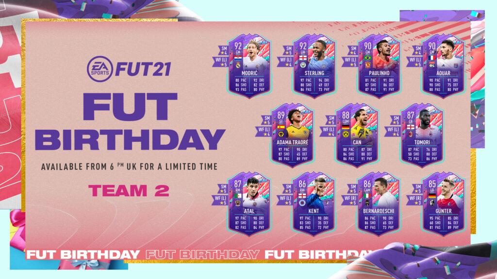 Secondo Gruppo di carte FUT Birthday