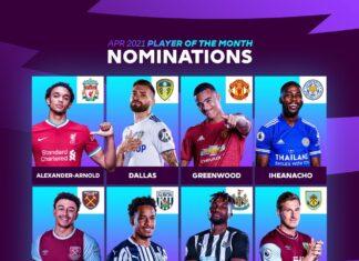Candidati POTM Premier League Aprile