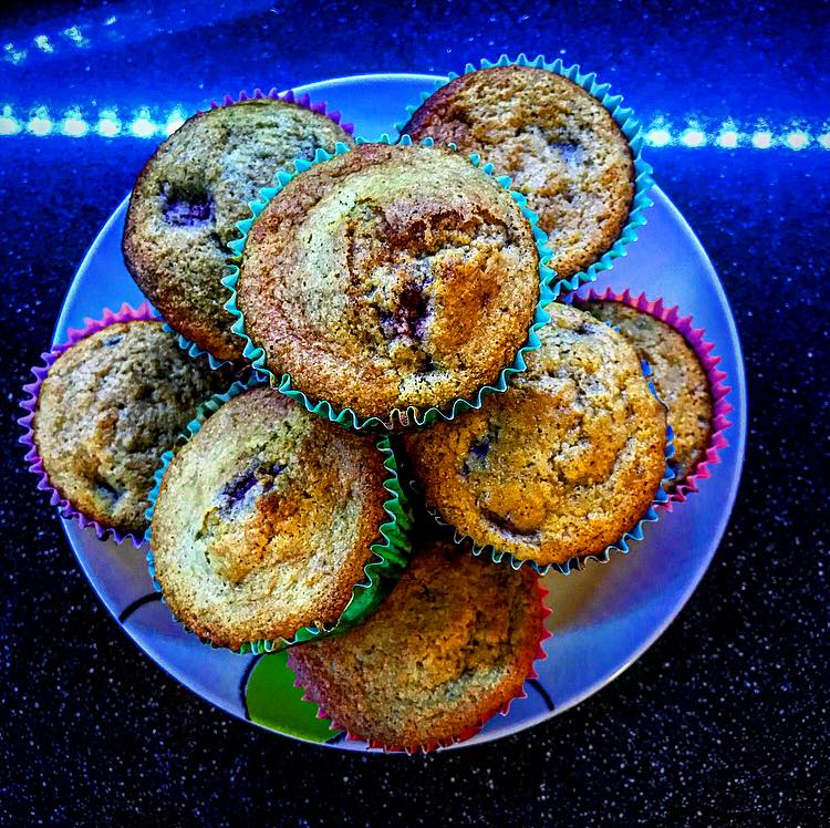 Strawberries- space- muffin