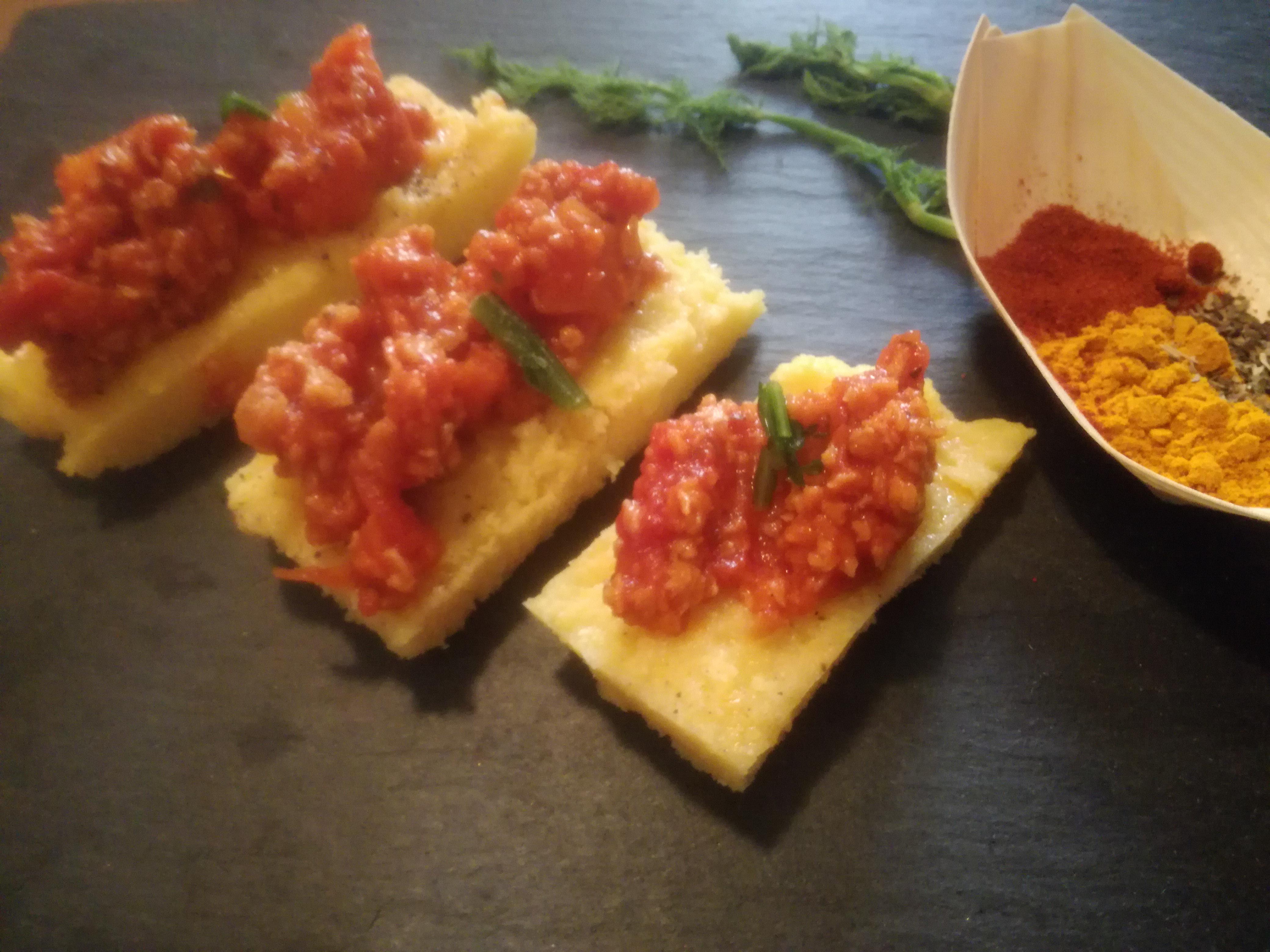 crostini-polenta