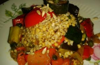 Un cereale da scoprire. Torretta di sorgo alle verdure croccanti.