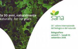 SANA 2018- Fiera internazionale del Biologico e del Naturale a Bologna dal 7 al 10 settembre