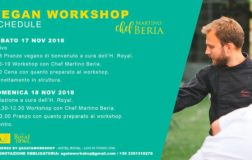 Workshop di cucina vegan con lo chef Martino Beria: 17-18 Novembre a Fermo