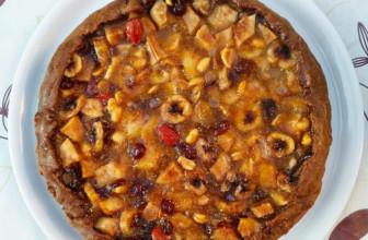 Crostata con farina di castagne e frutta mista