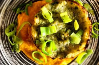 Sformatini di broccolo romanesco su crema di carote – Ricetta facile e gluten free