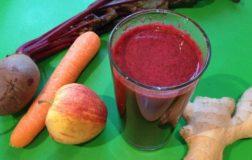 Frullato di barbabietola, carota e mela per disintossicare il nostro organismo