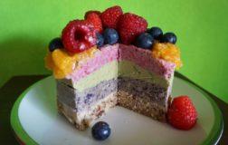 Semifreddo con frutta fresca e secca (senza zuccheri aggiunti, senza glutine e senza cottura)