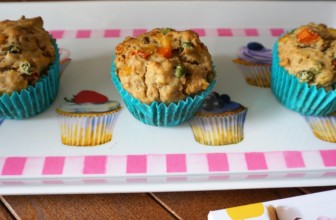 Muffin salati per bambini: la ricetta con verdure colorate