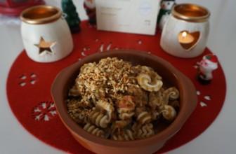 Pasta con ragù di lenticchie e nocciole