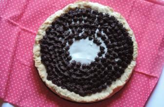 Crostata con crema al cocco e ganache al cioccolato