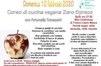 Corso di cucina Vegana Zero Spreco: a Roma domenica 16 febbraio 2020