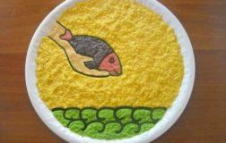 """Piatto disegno da guardare e mangiare: """"In un mare di speranza"""""""
