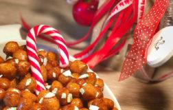 Struffoli integrali con malto di riso, dolce natalizio della tradizione napoletana